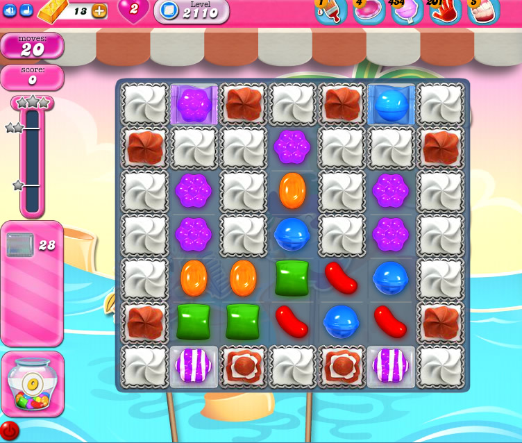 Candy Crush Saga level 2110