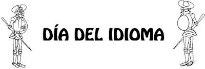 Dibujo del Día del Idioma para colorear con Don Quijote