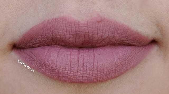 queen b - lips too faced melted mattes review swatch