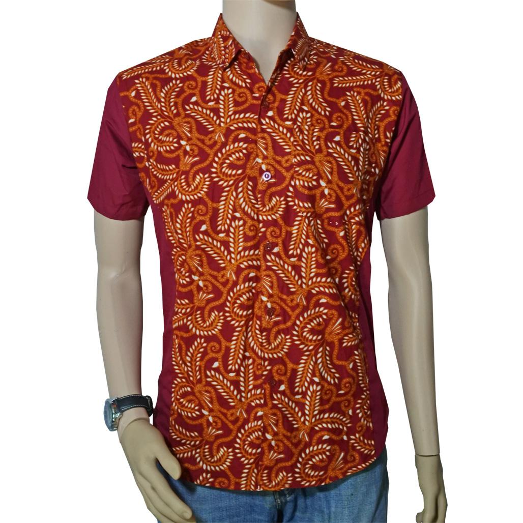 Kombinasi Batik Pria Modern: Baju Batik Pria Slimfit Kombinasi