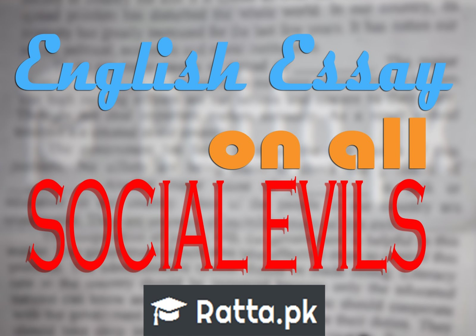 english essay on many multiple social evils topics inter