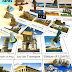 World Landmarks 3-Part Cards and Matching with Safari Toob