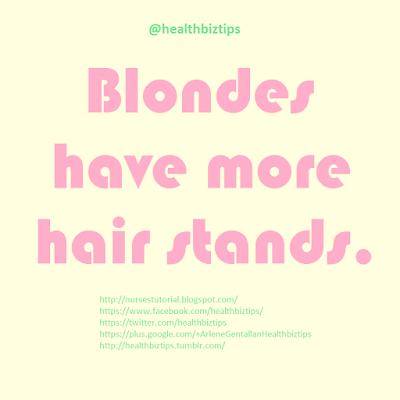 Blondes have more hair stands.
