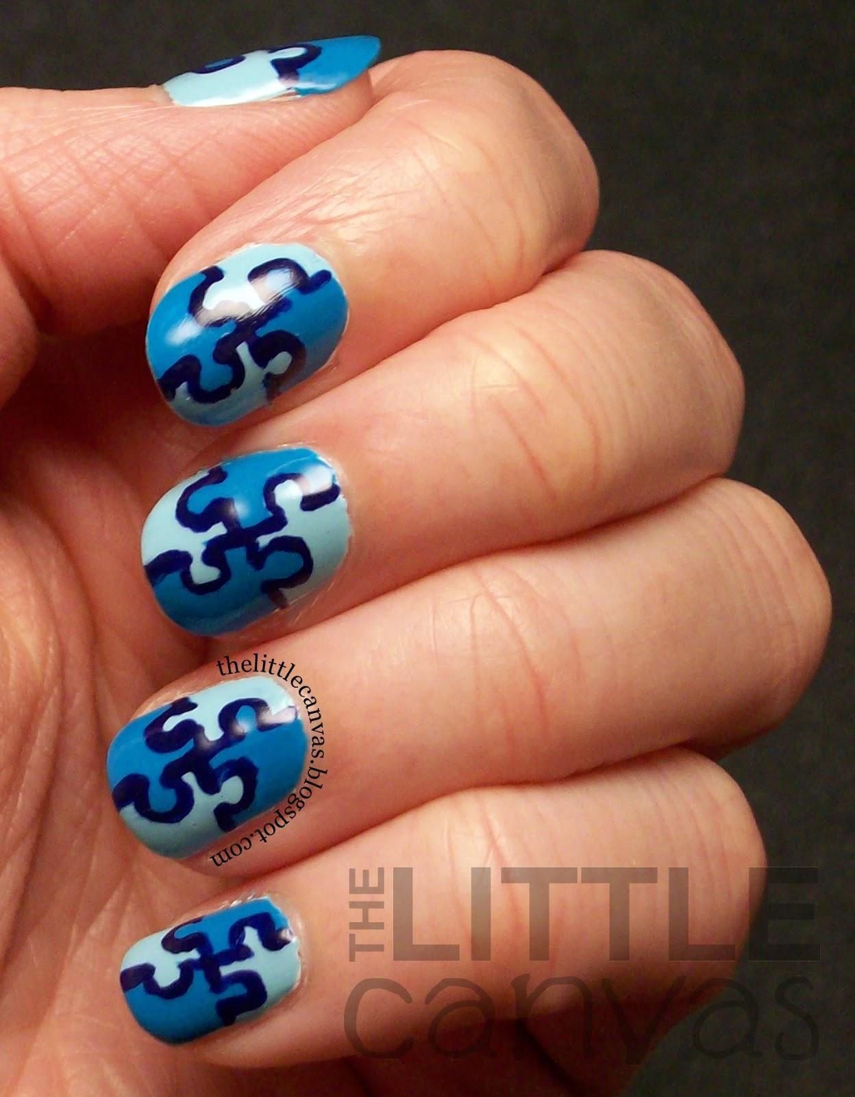 Magnificent Autism Puzzle Piece Nail Art Embellishment - Nail Art ...
