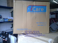 dimesi packing kardus Kursi roda Icare