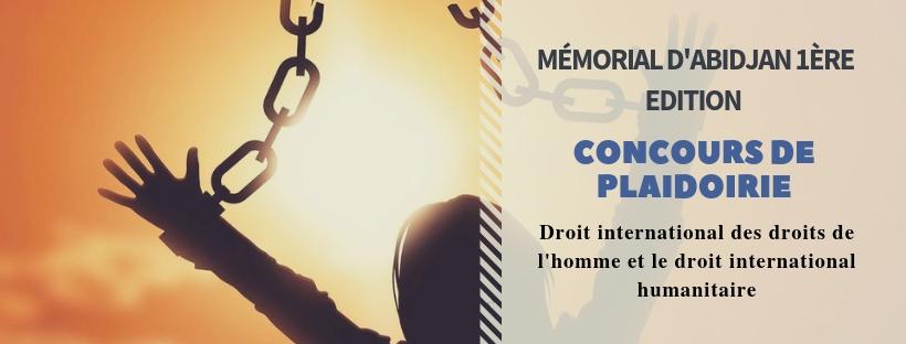 Première édition du Mémorial d'Abidjan : Concours de plaidoirie 2019