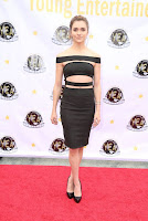 alyson stoner sexy in black dress at 2016 young entertainer awards best red carpet dress