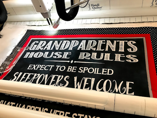 Grandparents Rules Wall Hanging