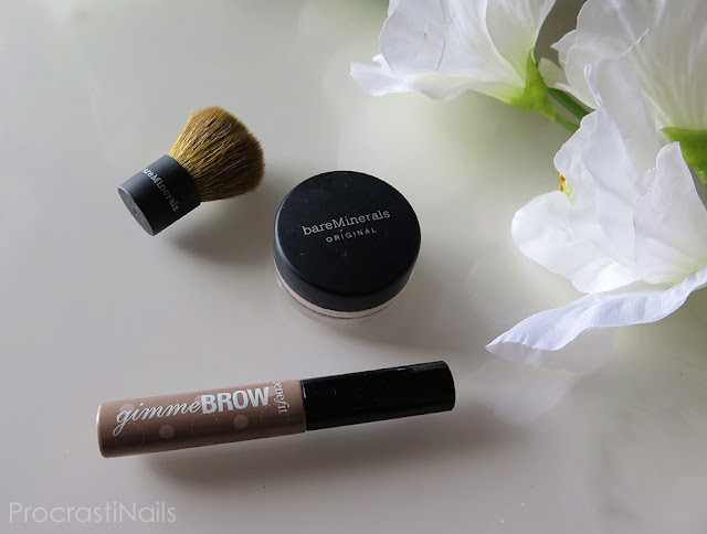 Review of bareMinerals Original Foundation and Benefit Gimme Brow Brow-Volumizing Fiber Gel