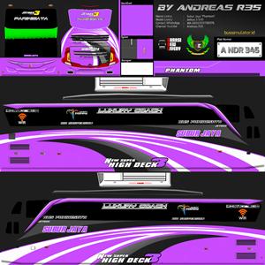 Livery Bussid Subur Jaya SHD JB3 Phantom