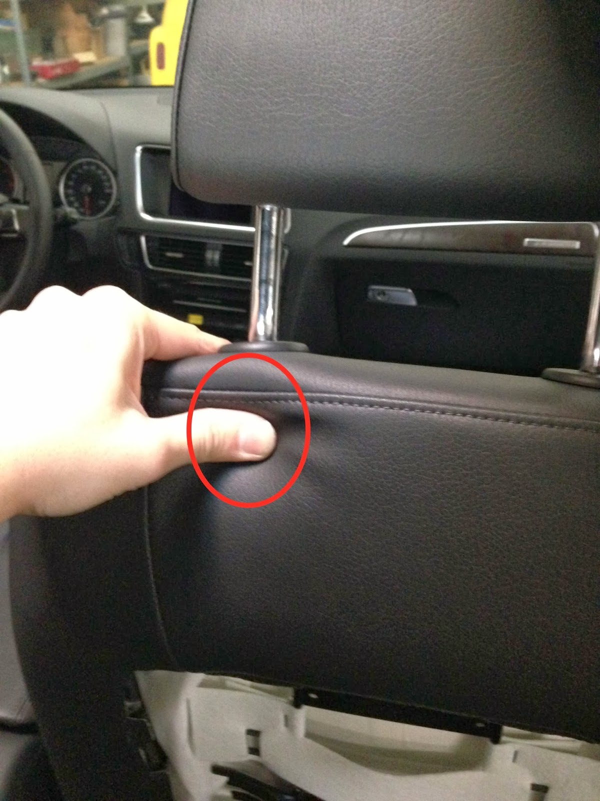 Car Audio Tips Tricks and How To's : New Audi Headrest Removal