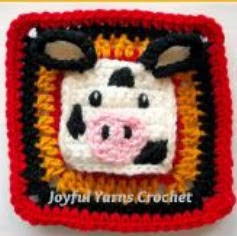 http://www.craftsy.com/pattern/crocheting/other/cow-appliquesquare/52795