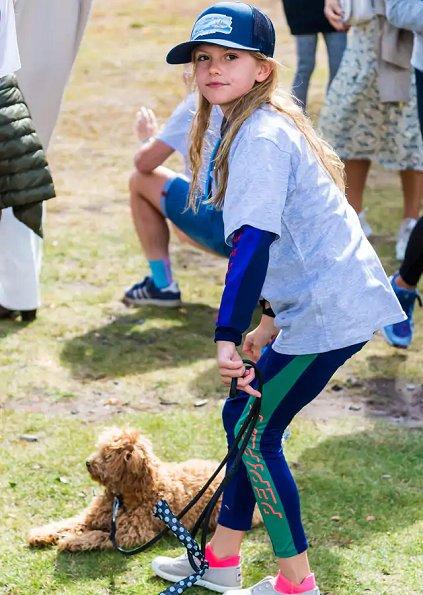 Crown Princess Victoria, Prince Daniel, Prince Oscar. Princess Estelle wore a sweat suit from HM x Gen-Pep collaboration