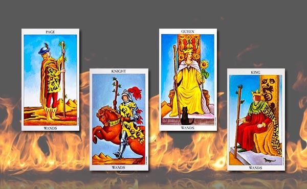 жезли дворцови карти