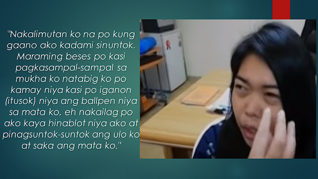 Every overseas Filipino worker (OFW) believes that having a job abroad will solve all their financial problems. As compared to the salary they can get from working in the Philippines, they can earn much bigger overseas but it takes more sacrifice. There are a number of OFWs especially those who are working as household service workers who suffer inhumane treatment in the hands of their sponsors. Cases of abuse are rampant particularly in the Middle Eastern countries.       Ads  Sponsored Links      Barely a month working in Jeddah, Saudi Arabia, an OFW was nearly lose her sight from beating by her sponsor.  Lovebella Abcede, during an exclusive interview by GMA news, showed her reddened right eye due to hemorrhage caused by repeated punches from her employer.  According to the OFW, last November, she said to her employer that she wishes to be transferred from another employer after her present employer said that she will be sent home for not following her sponsor's orders. The sponsor suddenly slapped and throw punches on her. Unfortunately, the owner of her agency is also her present sponsor.      Due to the incident, the agency swiftly acted on repatriating her to the Philippines but her employer warned her not to tell anyone about what happened. The agency personnel will also pick her up when she arrives.  On her home to the airport, she asked the driver to bring her to the consulate. She then took her time to report about the incident to the authorities.    Labor Attache Nasser Munder said that they can order the cancellation of the agency's accreditation due to the maltreatment experienced by Abcede.  The OFW was then asked to file complaints about the claiming compensation for the damages due for maltreatment and ill-treatment from her employer.  The OFW is hoping that her sponsor is reprimanded for what happened to her. Abcede is now back home together with her family.  Filed under the category of overseas Filipino worker, job abroad , sacrifice, household se