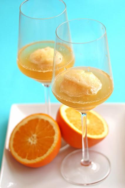 mimosa+sorbet+1 - Orange Sorbet Mimosa