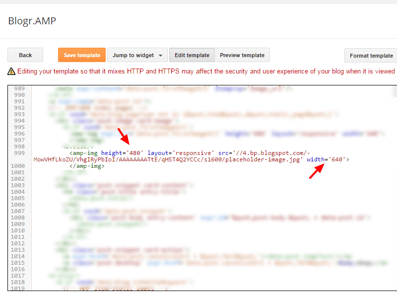 Update img tag to use amp-img tag and validate AMP Blogger pages