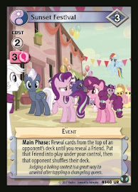My Little Pony Sunset Festival Defenders of Equestria CCG Card
