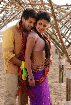 Amala Paul Sexy belly press by Aarya in Vettai