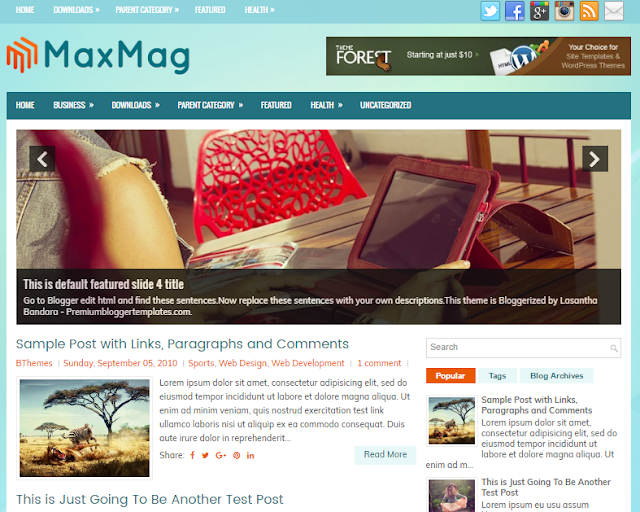 MaxMag Blogger Template