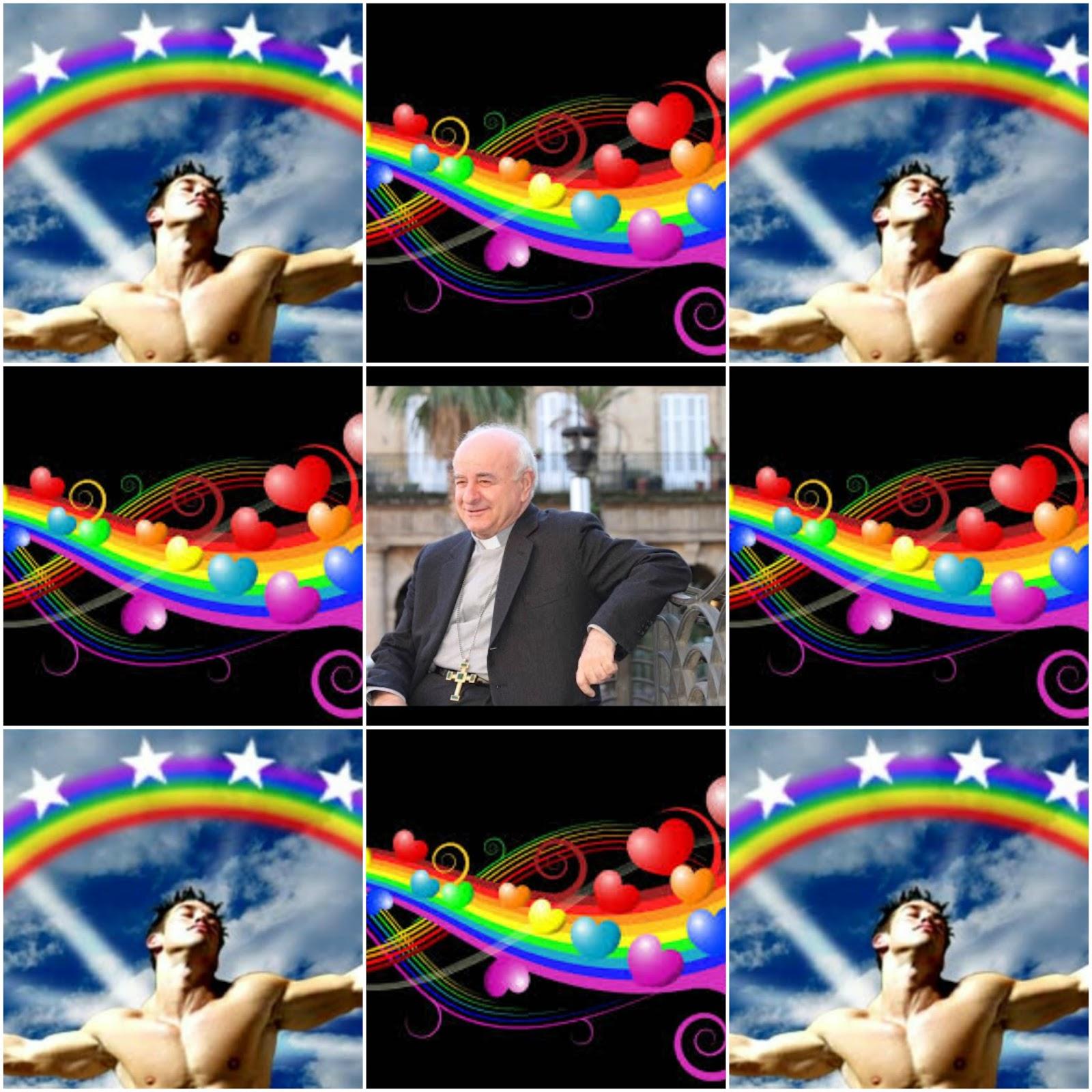 Arzob. Paglia se declara homosexual en un mural homoerótico que encargó