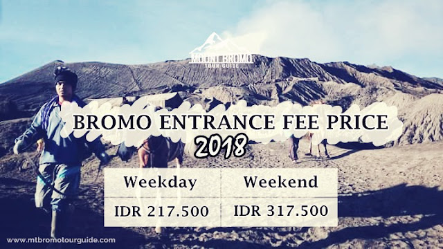 Bromo entrance fee price 2018