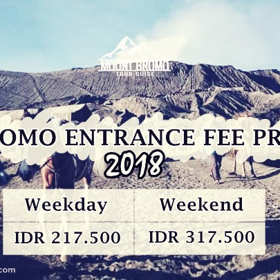 Bromo entrance fee price 2018