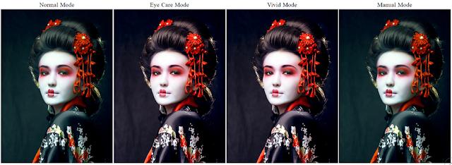 Beberapa mode fitur eye care