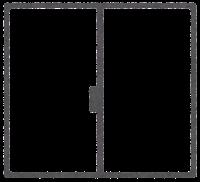 窓の外の天気のイラスト(枠)