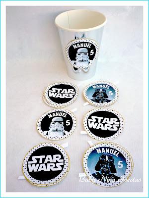 etiquetas personalizadas star wars