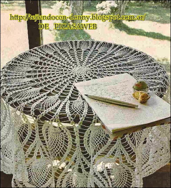 TEJIDOS A CROCHET - GANCHILLO - PATRONES: tablecloth to crochet