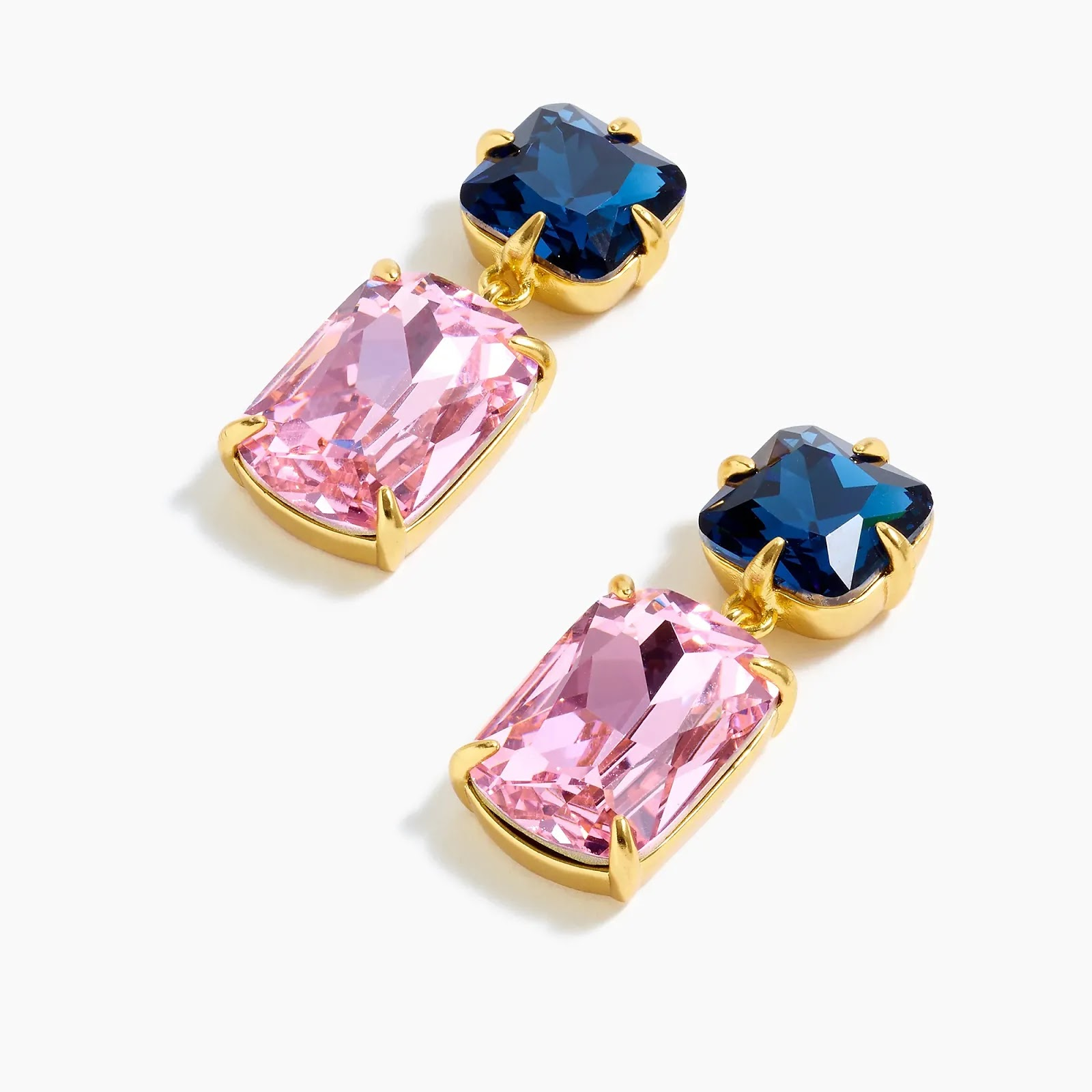 J Crew Crisp Berry Rectangle-shaped stone drop earrings - statement fashion blog