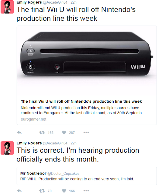 Emily Rogers wrong incorrect fraud Wii U end production November