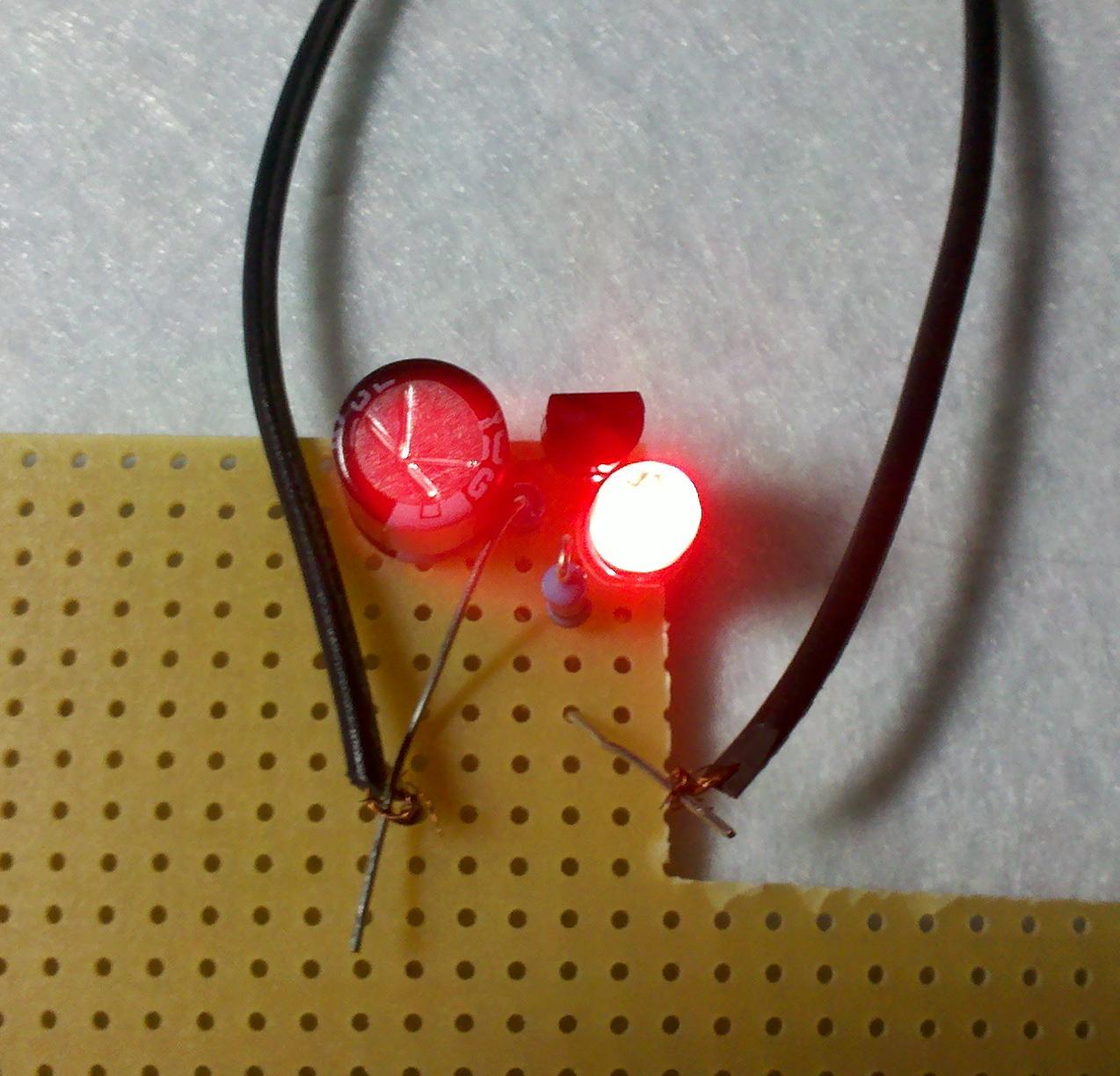 Resistor Capacitor Transistor Set For Diy Flashing Led Circuit