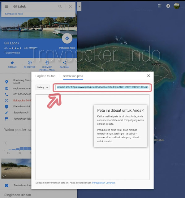 Cara Memasang Google Maps di Website atau Blog, embed Google Maps ke Website, cara membuat map atau peta di website
