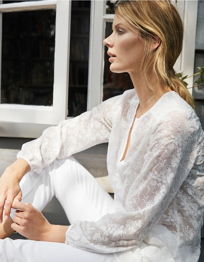 the white company floral embroidered blouse