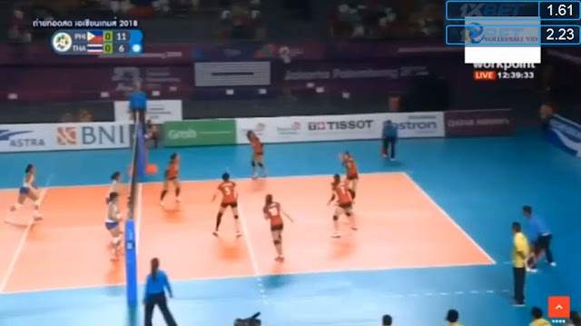 Live Streaming List: Philippines vs Thailand ASIAD 2018 Volleyball (Women) Match 2018 ASIAD