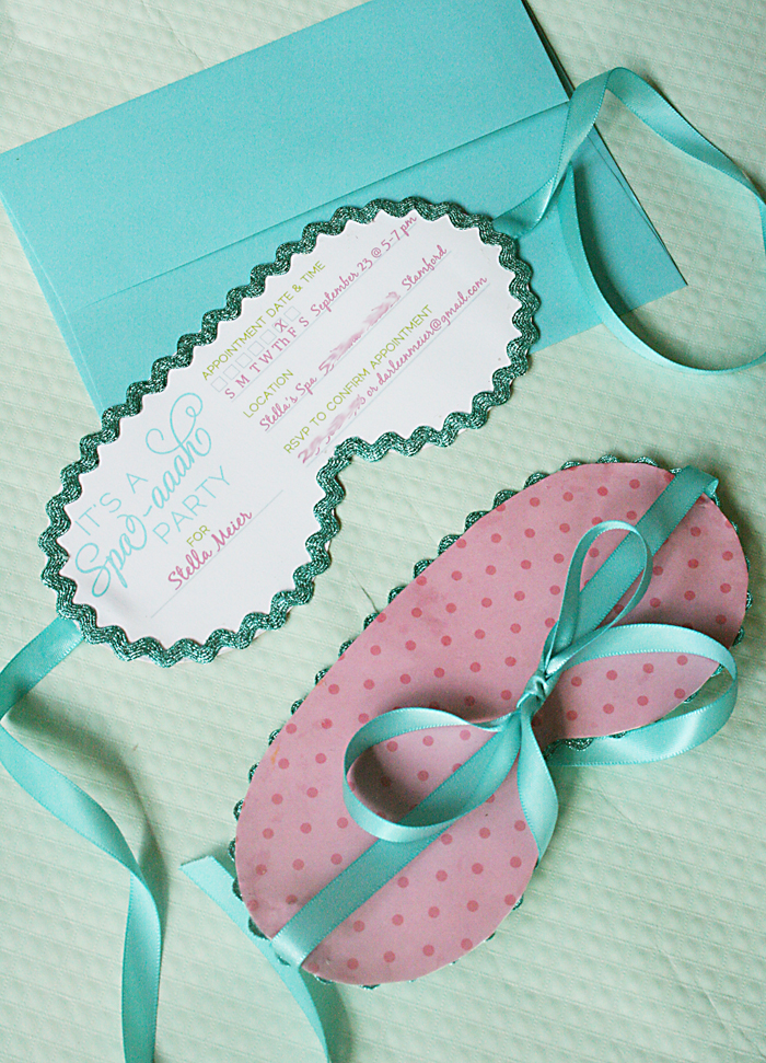 Spa Party Invitations - Darling Darleen | A Lifestyle Design Blog