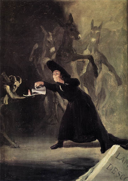The Bewitched Man by Francisco de Goya, Macabre Paintings, Horror Paintings, Freak Art, Freak Paintings, Horror Picture, Terror Pictures