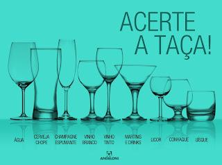 em que taças servir vinhos