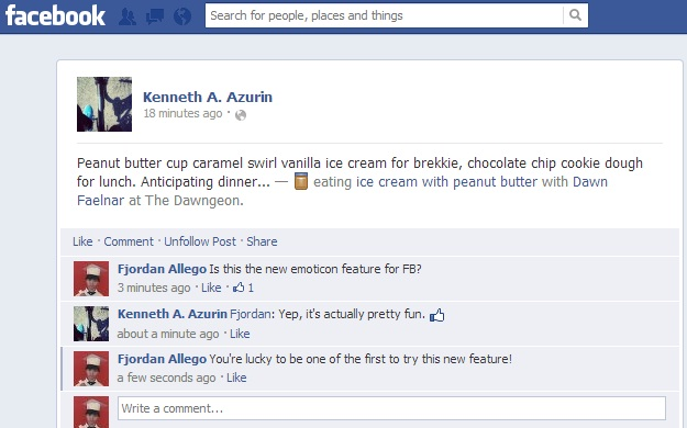 Facebook to add emoticons for status updates