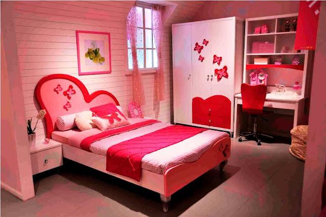 Kamar Tidur Sederhana Anak Remaja Perempuan