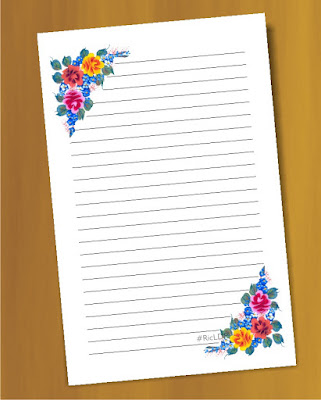 hand painted flower stationery