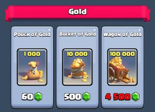 Cara Mudah Mendapatkan Gold Clash Royale Tukar Gems