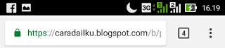 sekarang alhamdulillah blog ini mempunyai https sudah berwarna hijau atau ijo