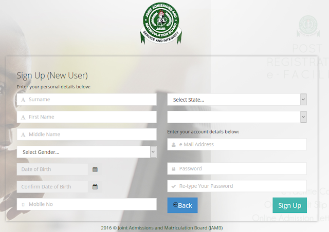 JAMB Regularization, Validation and Late Application Process 2019/2020