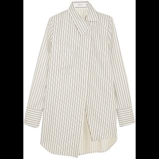 summer trends 2017 woman girls dominique candido blogger fashion travel basket bag stripes asymmetrical shirts tropical print sandals ADEAM SHIRT