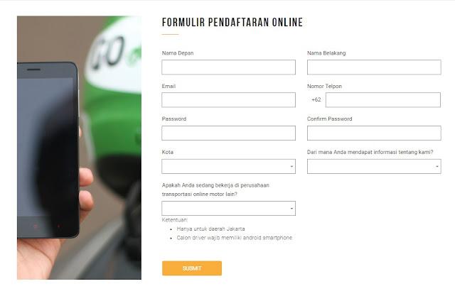 Cara Mendaftar Driver Go Ride Dan Mendapat Bonus Rp 500.000
