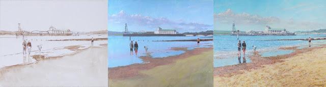 Martin Davey beach dorset WIP art WIP