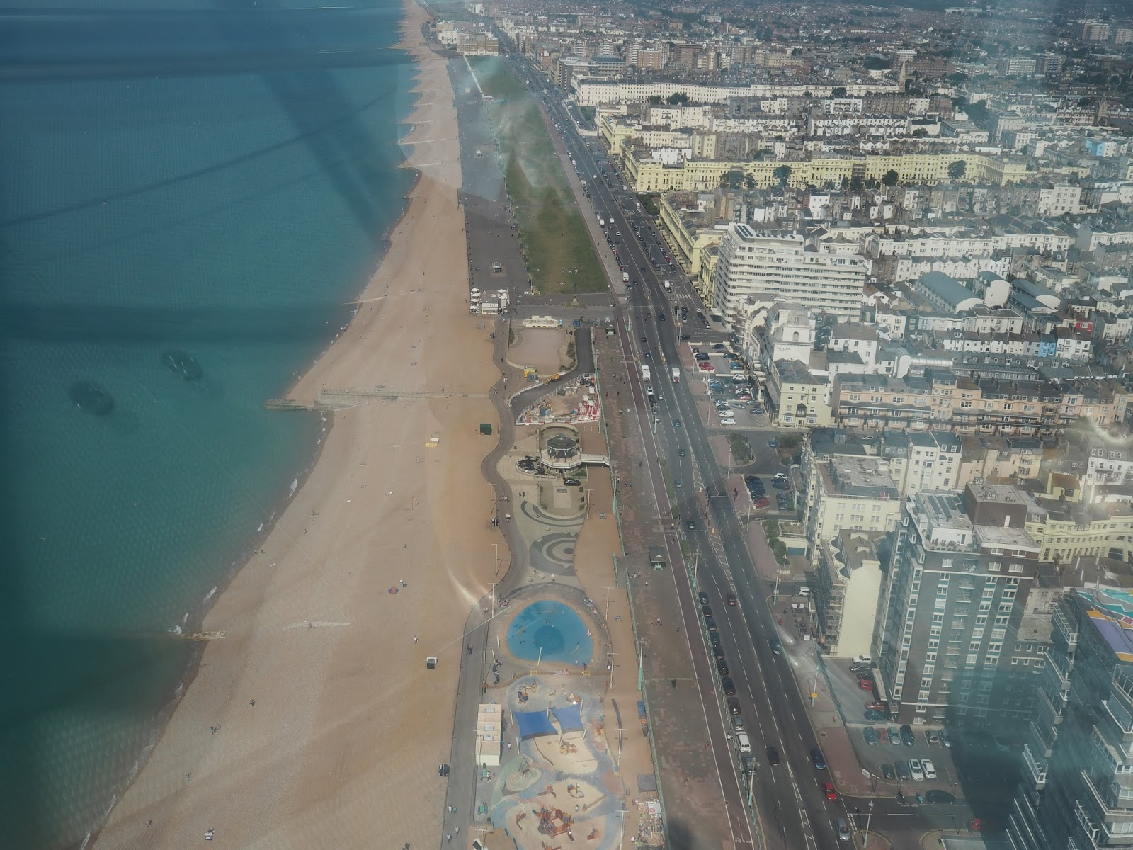 view of Brighton from i360